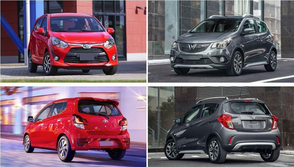 """Ngoại hình của Vinfast và Toyota  - Vinfast Fadil với Toyota Wigo cuộc so tài """"khốc liệt"""" giữa hãng xe Việt Nhật, ai sẽ thắng?"""