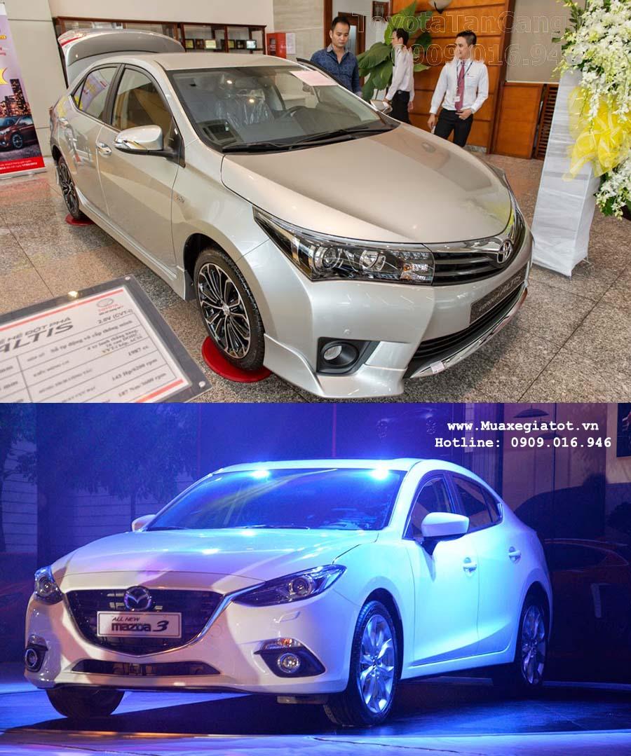 toyota corolla altis 2016 vs madza 3 2016 1 - Nên mua xe Mazda 3 hay Toyota Corolla Altis