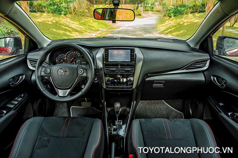 Noi that xe Toyota Vios GR S 2021 toyotalongphuoc vn - So sánh Toyota Vios GR-S 2021 và Honda City RS 2021: Cạnh tranh khốc liệt trong phiên bản mới