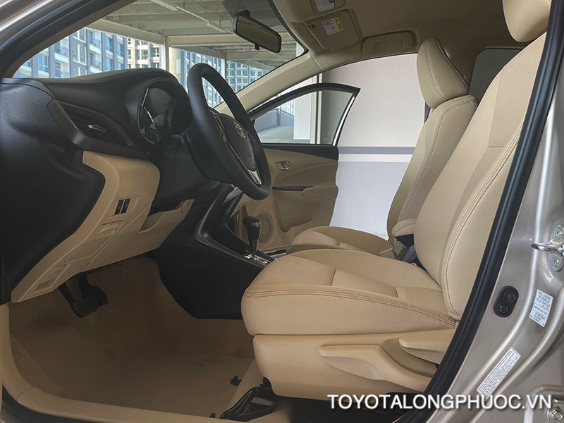 ghe truoc xe toyota vios 2021 ban 15G toyota tan cang toyotalongphuoc vn 4 1 - Đánh giá Toyota Vios G 2021: Sự đột phá trong thiết kế cùng sự vận hành