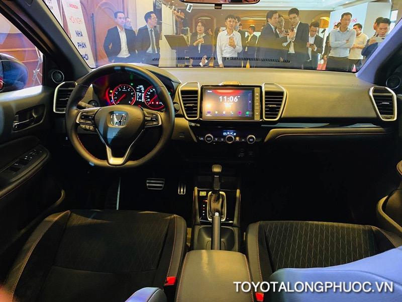 noi that xe honda city rs 2021 toyotalongphuoc vn - So sánh nhanh Vios, Accent, City với tầm giá lăn bánh 600 triệu nên mua xe nào?