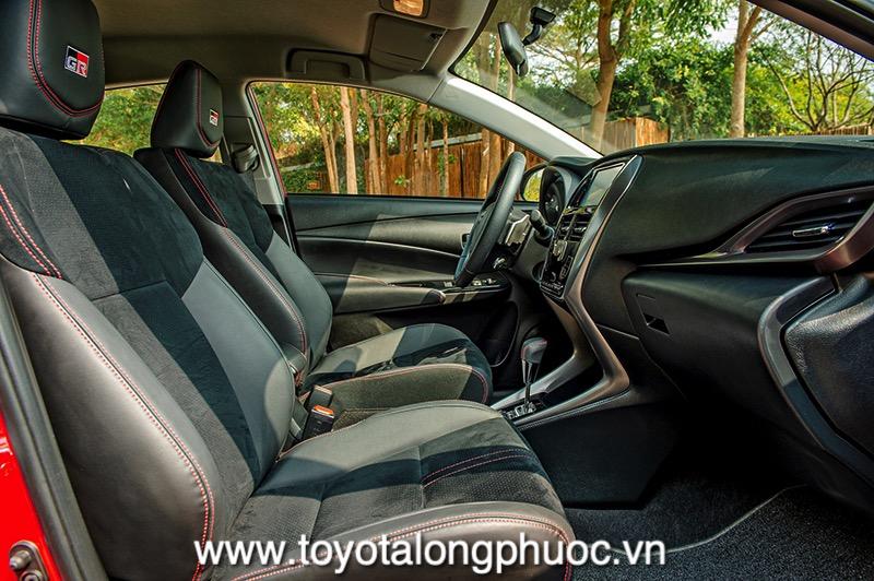 ghe ngoi the thao xe Toyota Vios GR S 2021 Toyotalongphuoc vn - Đánh giá Toyota Vios GR-S 2021: Phiên bản thể thao cực hấp dẫn