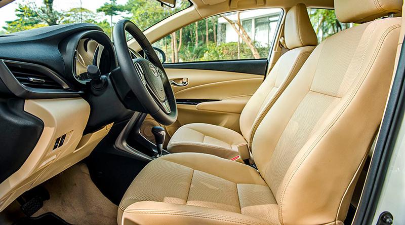 ghe xe toyota vios 15e cvt 2021 7 tui khi toyotalongphuoc vn - Đánh giá xe Toyota Vios E CVT 2021 (7 túi khí): Mẫu xe gia đình hoàn hảo