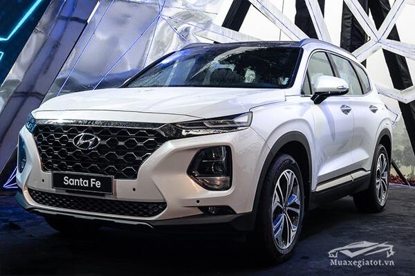 xe mau trang hyundai santafe 2019 muaxenhanh vn 33 - Đánh giá xe Hyundai SantaFe 2021, Xe SUV 7 chỗ đang từng bước lật đổ thế lực Fortuner
